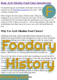 Alkaline Food Charts Intro Doc Change History
