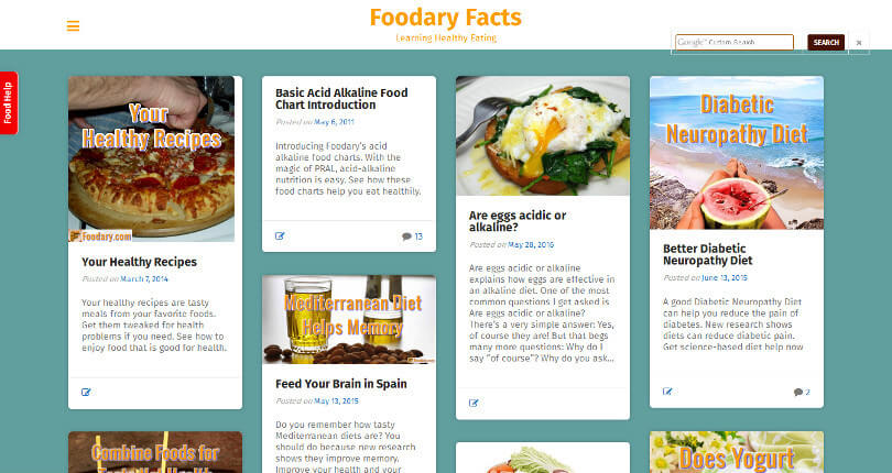 Foodary.com 2016 screenshot